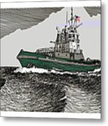 Foss Tractor Tugboat Metal Print
