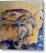 Fossil Fish Metal Print