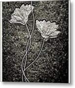 Fossilized Flowers Metal Print