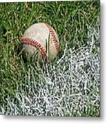 Foul Ball Metal Print