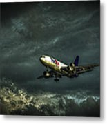 Foul Weather Fedex Metal Print