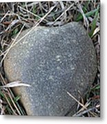 Found A Heart Of Stone Metal Print