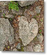 Found Heart Metal Print