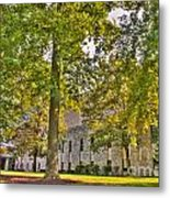 Founders Hall Portico Entrance Metal Print