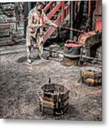Foundry Worker Metal Print