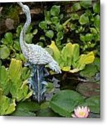Fountain Among Lilies Metal Print