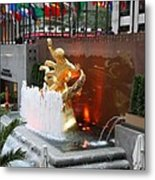 Fountain And Prometheus - Rockefeller Center Metal Print