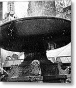 Fountain At Bryant Park Metal Print
