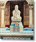 Fountain At Cafe Del Rey Moro Metal Print by Mary Helmreich