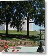 Fountain At Capitol Square  Metal Print