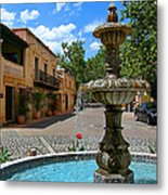 Fountain At Tlaquepaque Arts And Crafts Village Sedona Arizona Metal Print