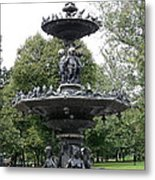 Fountain Boston Common Metal Print