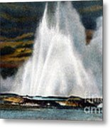 Fountain Geyser Yellowstone Np Metal Print