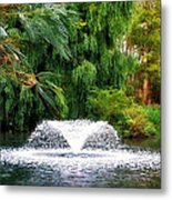 Fountain In The Park Metal Print