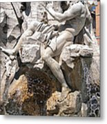 Fountain Of Four Rivers Metal Print