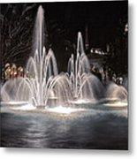 Fountains At Night Metal Print