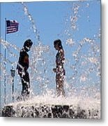 Fountain Of Youth Metal Print by Karen Wiles