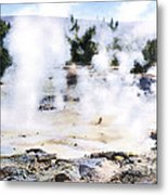 Fountain Paint Pot Yellowstone Np Metal Print