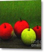 Four Apples Metal Print