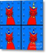 Four Cats Metal Print