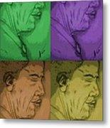 Four Colours Of Obama Metal Print