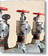 Four Emergency Water Valves Metal Print