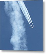 Four F-16 Falcons Doing A Loop In The Sky Metal Print