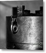 Four Jaw Chuck Black And White Metal Print