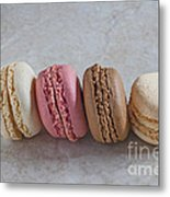 Four Macarons In A Row Metal Print