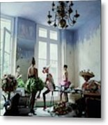 Four Models Inside Christian Lacroix's Studio Metal Print