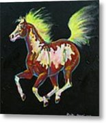 Four Of Hearts Pony Metal Print