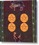 Four Of Pentacles Metal Print