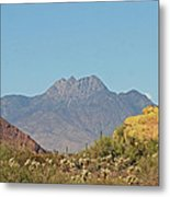 Four Peaks From The Apache Trail Metal Print