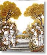 four seasons-autumn on lake Maggiore Metal Print by Guido Borelli