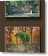Four Seasons Collage Metal Print