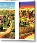 Four Seasons On The Farm Metal Print by Robin Moline