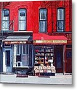 Four Shops On 11th Ave Metal Print