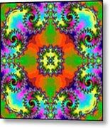 Four Square Spirals Metal Print