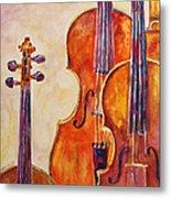 Four Violins Metal Print