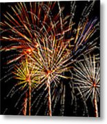 Fourth Of July Fireworks  Metal Print by Saija  Lehtonen