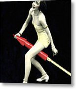 Fourth Of July Rocket Girl Metal Print by Underwood Archives