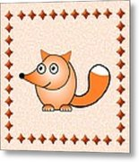 Fox - Animals - Art For Kids Metal Print