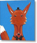 Fox Metal Print by Christy Beckwith