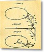 Fox Foldable Basketball Goal Patent Art 1952 Metal Print by Ian Monk