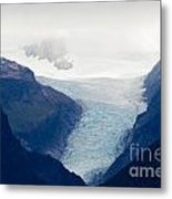 Fox Glacier On South Island Of New Zealand Metal Print
