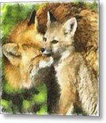 Fox One Metal Print
