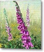 Foxglove Flower Metal Print