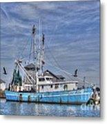 Shrimp Boat At Port Metal Print