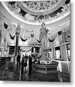 foyer and entrance to the forum shops at caesars palace luxury hotel and casino Las Vegas Nevada USA Metal Print