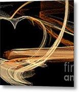 Fractal 24 Es Heart Metal Print